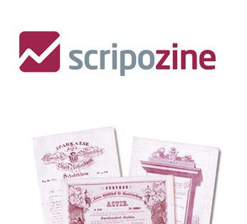 Logo Scripozine Scripophily