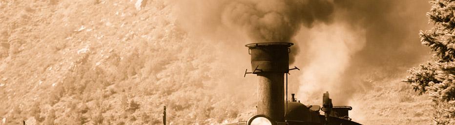 Train with steam loco
