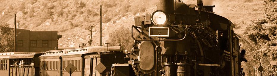 Zug mit Dampflok